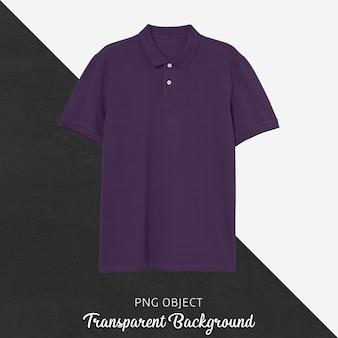 Vista frontale del mockup di maglietta polo viola