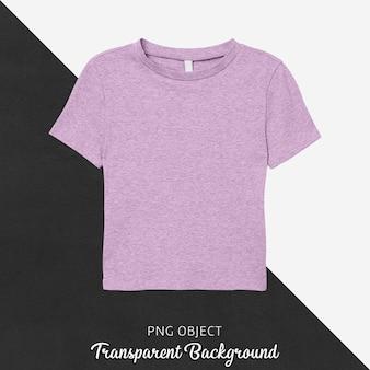 Vista frontale del mockup di t-shirt viola