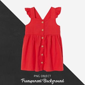 Vista frontale del mockup vestito rosso