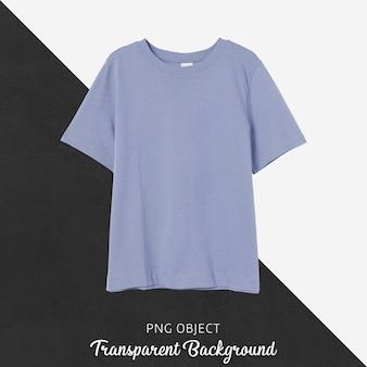 Vista frontale del mockup di tshirt ragazzo blu morbido