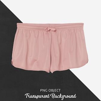 Vista frontale del mockup corto rosa sportivo