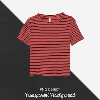 Vista frontale del mockup di t-shirt a righe