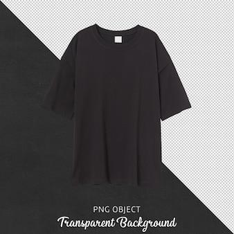 Vista frontale della maglietta nera della donna