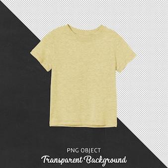 Vista frontale della maglietta gialla per bambini