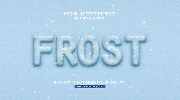 Frost 3d modello di effetto di testo
