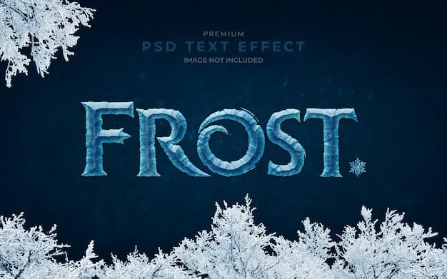 Mockup effetto testo frost psd