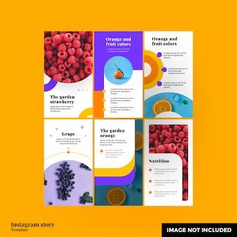 Modello di storia di instagram di frutta