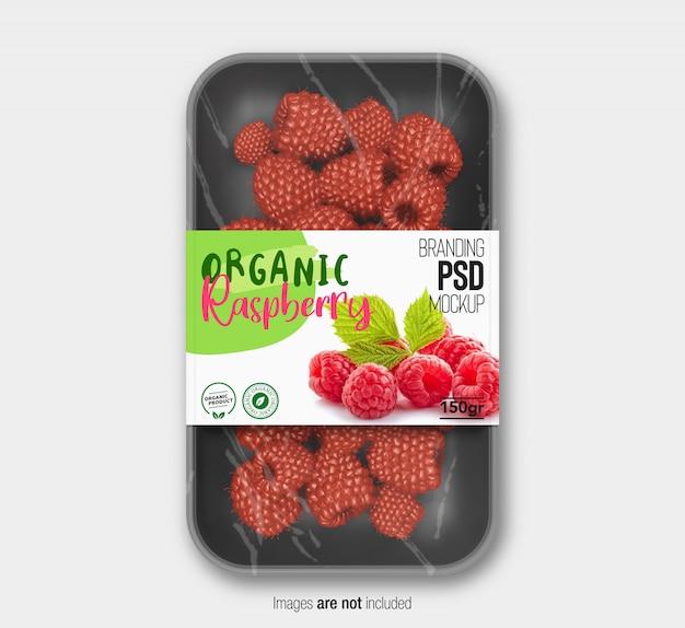 Mockup di confezionamento di frutta