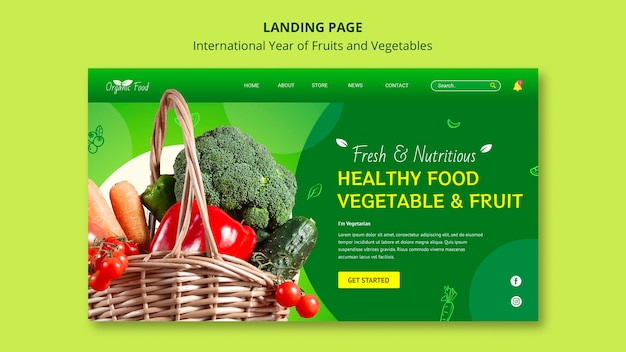 Pagina di destinazione anno di frutta e verdura