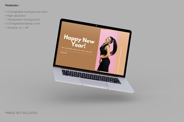 Modello di laptop a schermo intero
