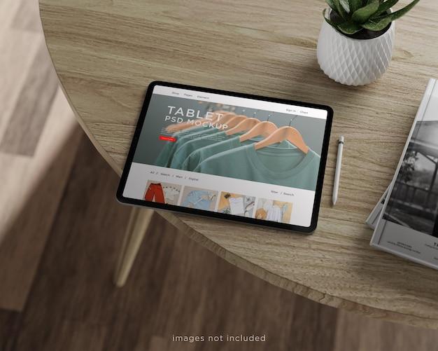 Design mockup per tablet a schermo intero