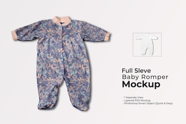 Mockup di pagliaccetto per bambini a maniche lunghe