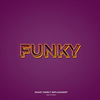 Funky effetti di stile del testo a tre colori