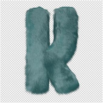 Lettere di pelliccia rendering 3d
