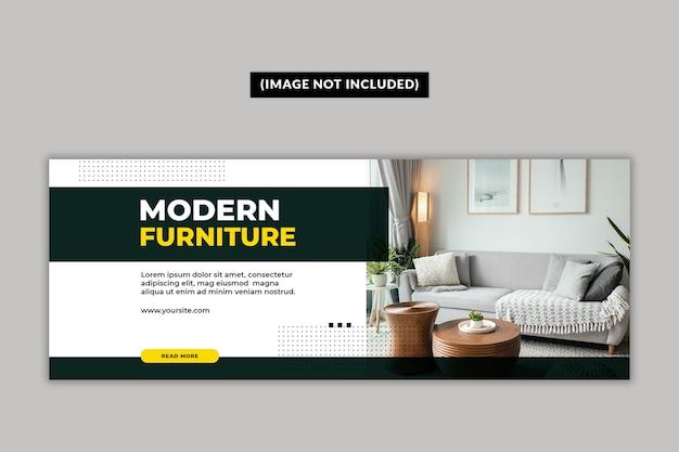 Modello di pagina di copertina di facebook per mobili