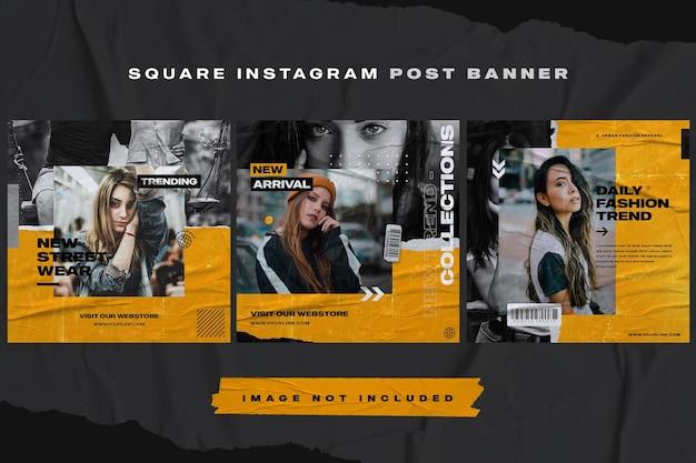 Modello di banner post instagram mobili