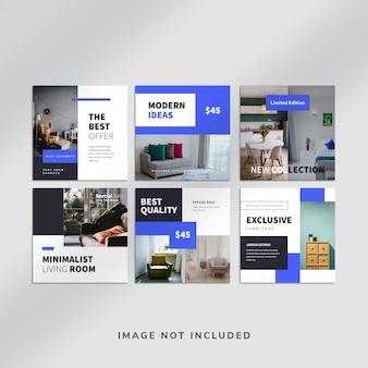 Modello di post sui social media di instagram per mobili