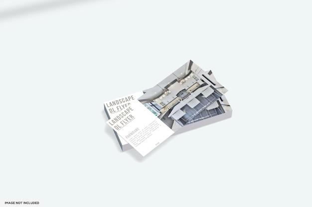 Design mockup flyer dl paesaggio mobili