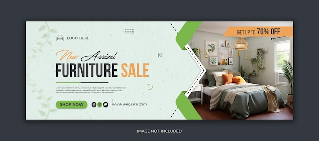 Modello di copertina di facebook per social media di vendita di mobili