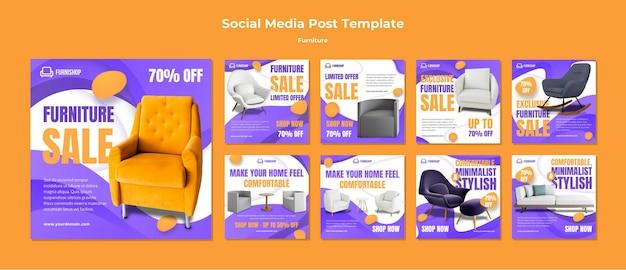 Modello di post sui social media per mobili