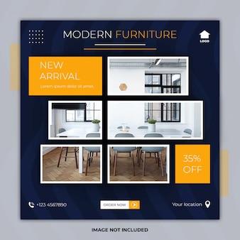 Modello di banner quadrato di mobili