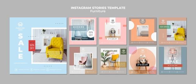 Modello di post instagram negozio di mobili