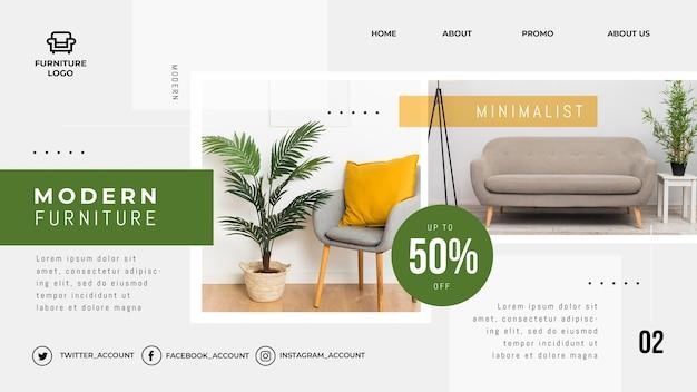 Modello di pagina di destinazione del negozio di mobili