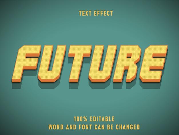 Annata di stile solido di colore solido del carattere modificabile di effetto del testo di dots future style