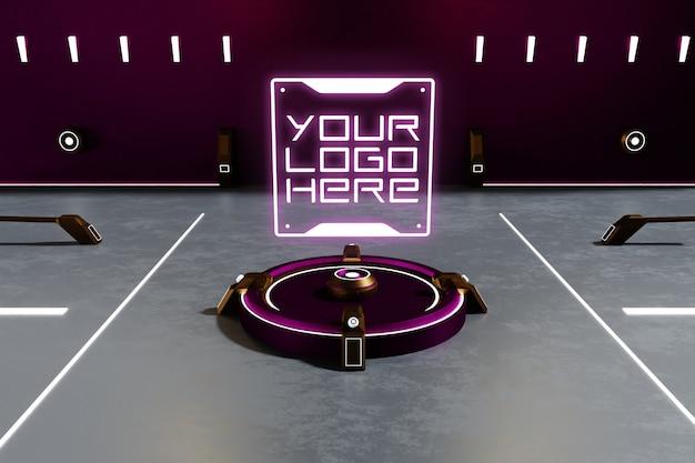 Mockup logo futuristico