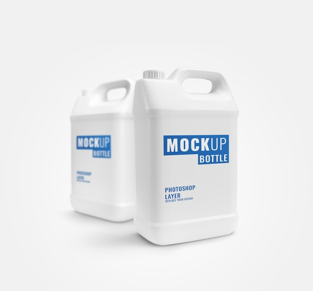 Modello pubblicitario bianco gallone realistico