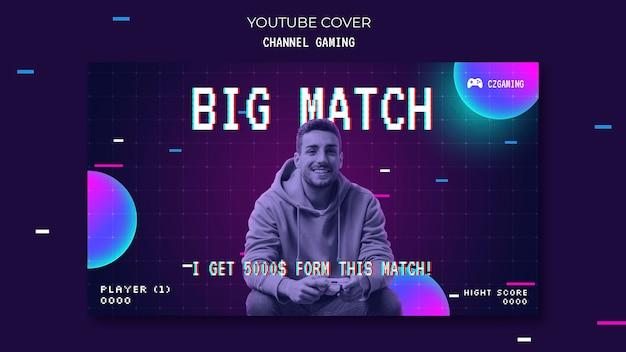 Copertura di youtube per lo streaming del gioco