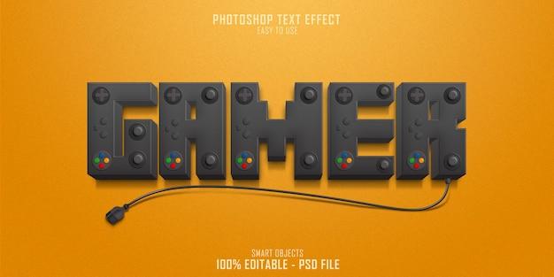 Modello di effetto stile testo console giocatore