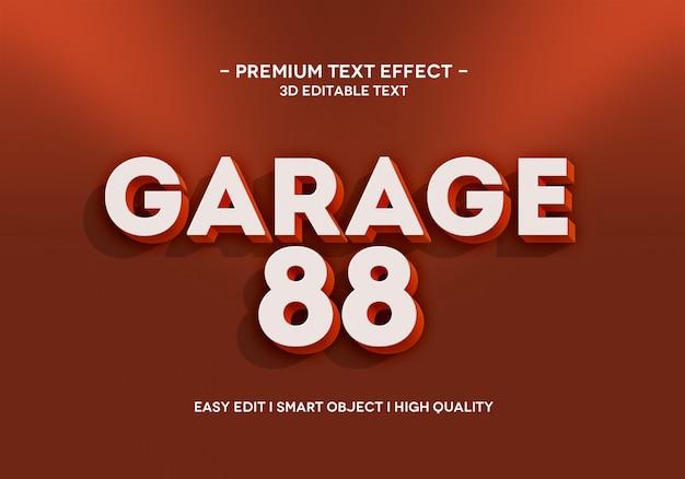 Modello di stile effetto testo garage 88