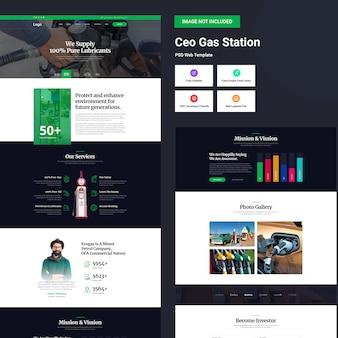 Interfaccia utente di gas station web design