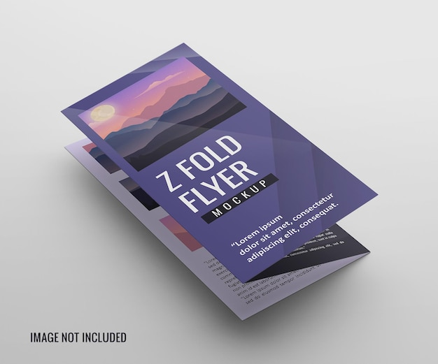 Mockup di brochure pieghevole a cancello