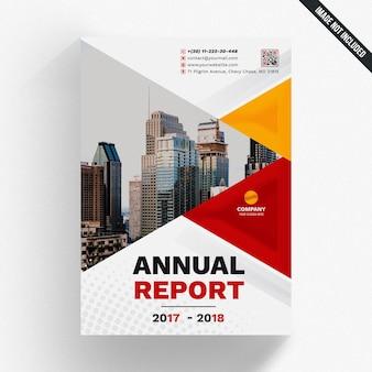 Mockup di rapporto annuale geometrico