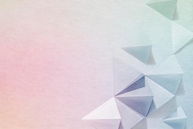 Sfondo di disegno geometrico del mestiere di carta