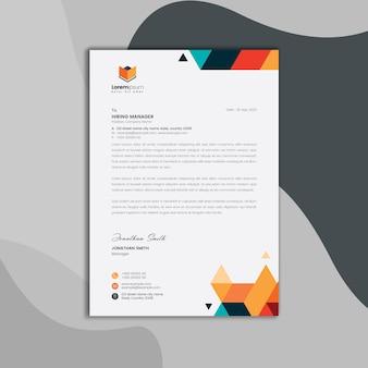 Carta intestata geometrica Psd Premium