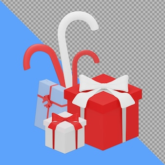 Confezione regalo design rendering isolato