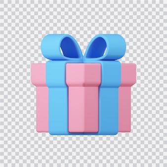 Confezione regalo icona isolato su bianco 3d reso image