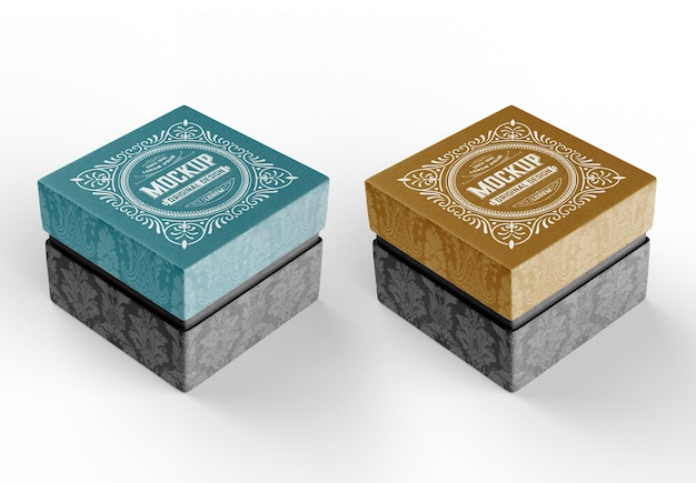 Mockup di scatola di cartone regalo