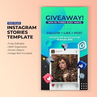Modello di promozione omaggio per post sui social media