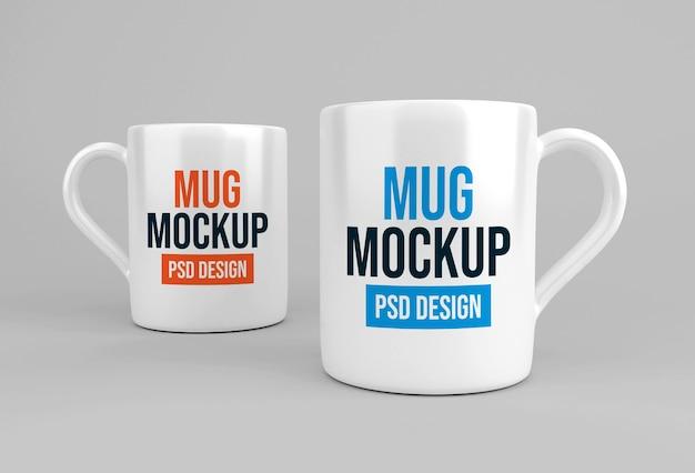 Design mockup di tazza da caffè o tè in vetro