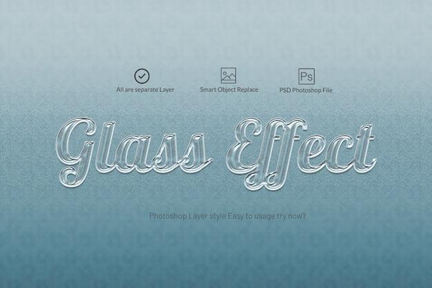 Glass text effect stile effetto testo