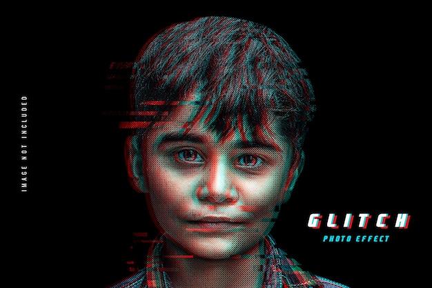 Modello di foto effetto glitch