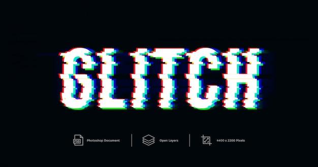 Modello di effetto testo glitch