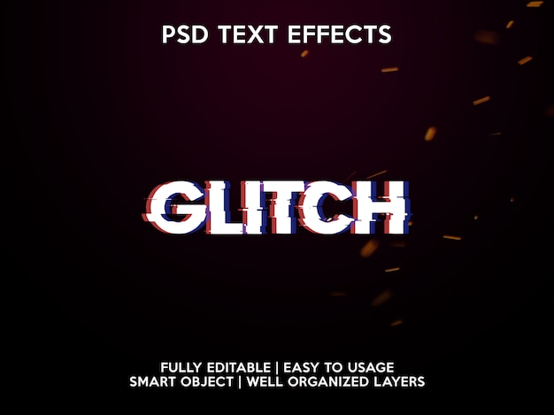 Effetti di testo glitch