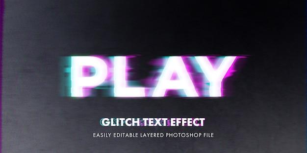 Modello di mockup effetto stile testo glitch