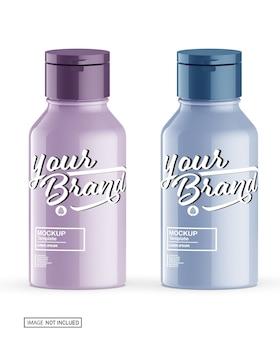Mockup di bottiglia di sapone lucido