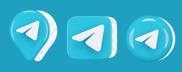 Set di icone telegramma lucido